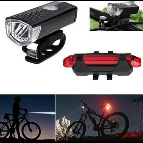 Foto Produk Paket lampu depan dan belakang sepeda - Merah dari Susi shop888