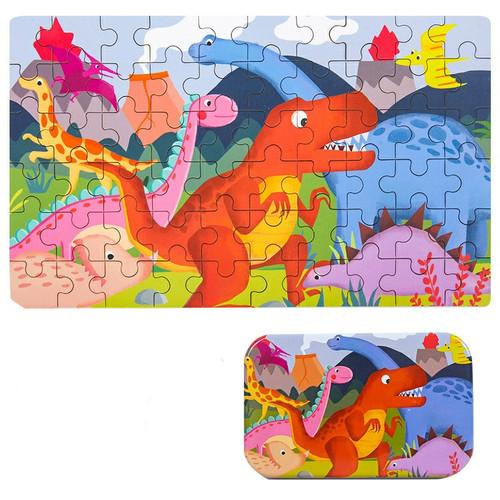 Foto Produk Gober - Puzzle 60 Keping Lucu / puzzle kaleng isi 60 pcs - Dino A dari Gober House88