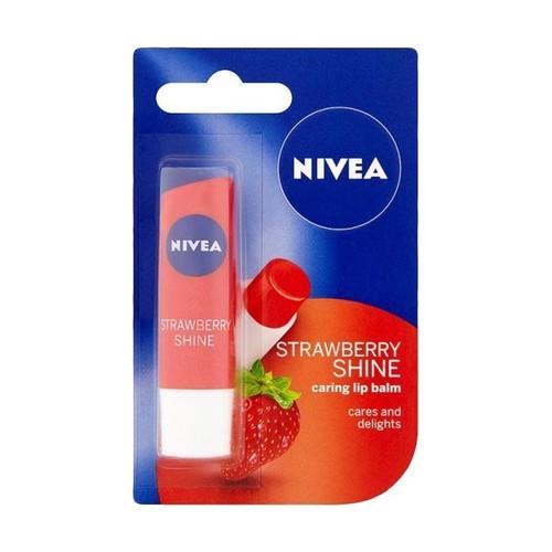 Foto Produk Nivea Lip Strawberry Shine Fitur Produk Exp JANUARI 2021 Lipbalm Ras dari evi rahayu
