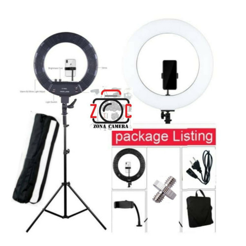 Foto Produk Ringlight LED Peyond 18 inch Ring Light Bi-color Lisensi Latour dari zona camera