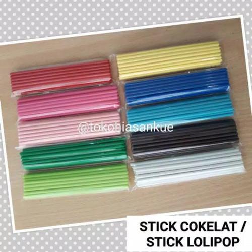 Foto Produk stick stik coklat / permen / cokelat / lolipop - Putih dari Toko Hiasan Kue