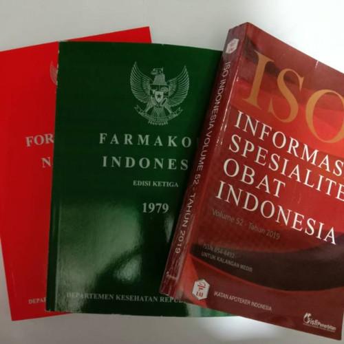 Foto Produk BUKU PAKET FARMASI FARMAKOPE EDISI 3 ISO OBAT FORMULARIUM NASIONAL dari TokoBukuKhasanah
