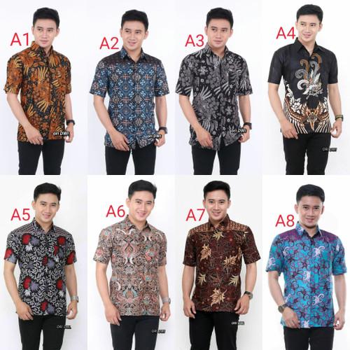 Foto Produk baju batik lengan pendek kemeja batik pria dewasa dari Batik ilmiyah96