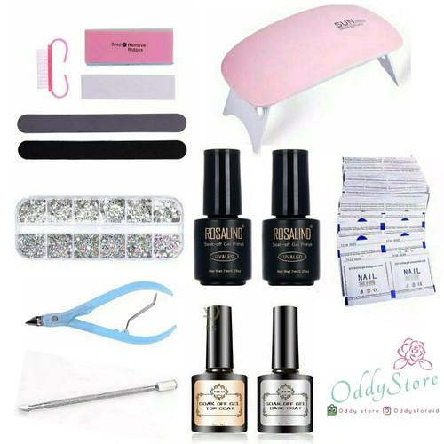 Foto Produk Paket Nail Art UV Gel Set Lengkap Kutek Lampu UV Manicure Pedicure dari Oddy Store