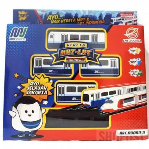 Foto Produk Mainan Kereta MRT Jakarta - Biru dari Shopost