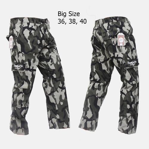 Foto Produk Celana Cargo/Pdl Panjang Pria Army Ukuran Besar eklusif Terbatas - Army Satu, 36 dari Baijonk Store Bandung