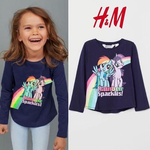 Foto Produk Baju anak kaos lengan panjang branded H&M navy little pony 1-8 T - 1-2 T dari Galeri Ona