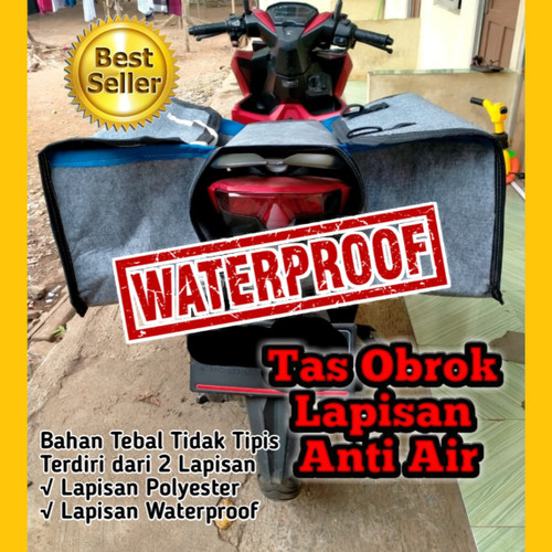 Foto Produk Tas Obrok Anti air waterproof JUMBO / Tas Motor Anti Air JUMBO dari Alvin Product