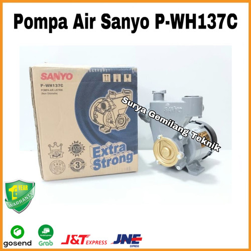 Foto Produk Pompa Air Sanyo P-WH137C Pompa Air Sanyo 125Watt PWH137C Non Otomatis dari SURYA GEMILANG TEKNIK