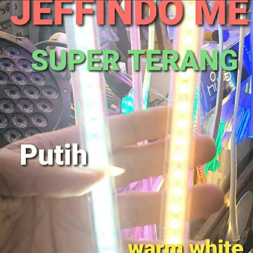 Foto Produk PROMO!!!LAMPU LED STRIP SELANG 2835 MATA RAPAT PER METER 1 METER 1M - Putih dari Jeffindo Mas Electric