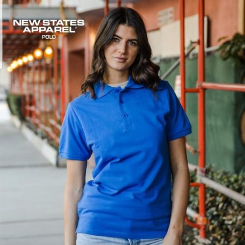 Foto Produk Kaos Polos New States Premium Polo Shirt 8100 COLOR,SIZE S-XL - Black, S dari Kaos Polos Theobald