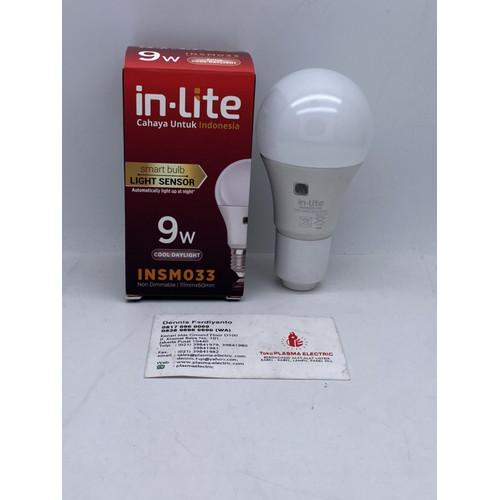 Foto Produk LAMPU LED SENSOR CAHAYA 9W 9 W 9WATT 9 WATT INLITE IN-LITE dari Plasma electric