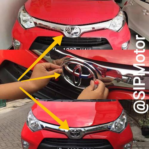 Foto Produk Emblem Toyota Calya Ganti Logo Burung Chrome Depan dari SIPMotor