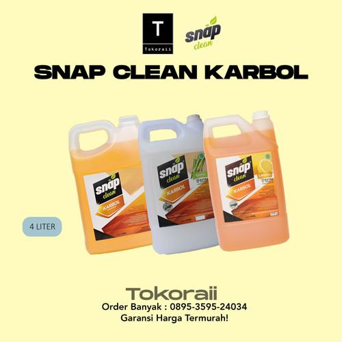 Foto Produk Snap Clean Karbol 4 Liter / Pembersih Termurah Sereh / Cemara - Sereh dari tokoraii
