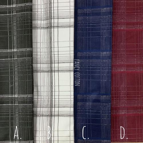Foto Produk kain katun jepang motif kotak japan design - kode D. dari maxshop online