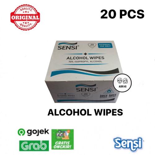 Foto Produk Sensi Alcohol Wipes isi 20 pcs dari aldo as