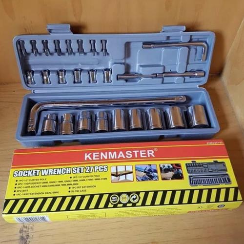 Foto Produk kunci sock set KENMASTER 27 pcs kunci sok set socket set kunci shock dari Garasi Toolsindo