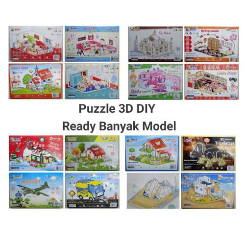 Foto Produk Mainan Edukasi Puzzle 3D DIY Jigsaw Mainan Anak / Model Ukuran Kecil dari MIAtamia