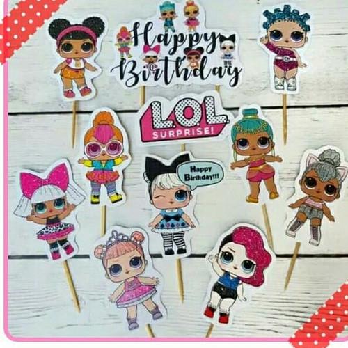 Foto Produk topper tusukan cake hiasan kue ulang tahun karakter LOL surprise dari recht shop