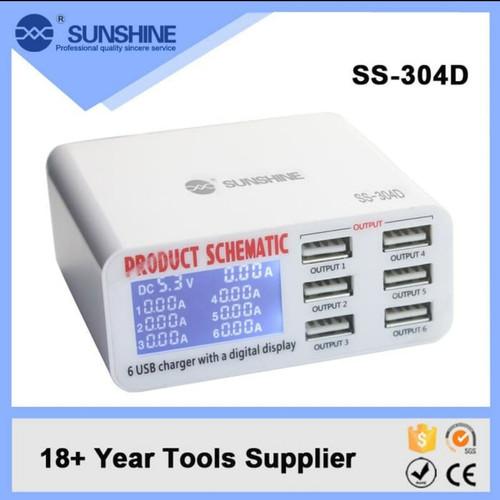 Foto Produk ADAPTOR SMART CHARGER SUNSHINE SS-304D 6 PORT USB DIGITAL dari Gita Shop patrol