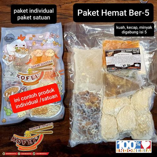 Foto Produk Paket Hemat ber-5 Bakmi Ayam Jamur Kofei Frozen (NON-HALAL) dari Bakmi Kofei