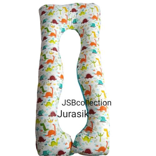 Foto Produk Bantal ibu hamil isi bantal+ sarung pakai resleting motif banana dari jsb collection