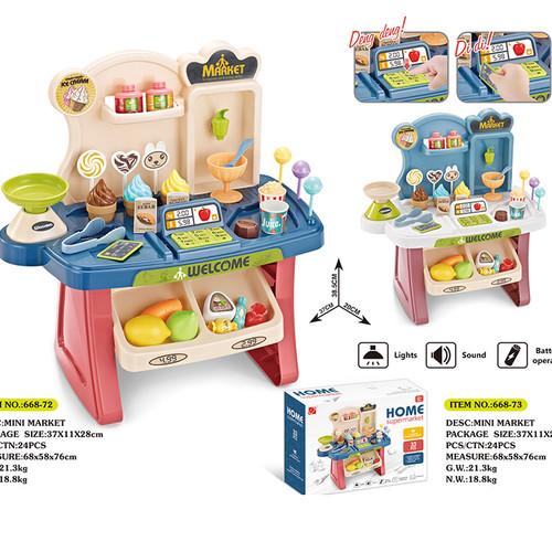 Foto Produk Mini Market Play Set / Kado Mainan Anak Perempuan Play set dari R&M Toys