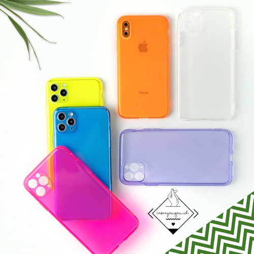 Foto Produk Neon camera protector case iphone 6 7 8 PLUS X XR XS 11 PRO MAX casing - ELECTRIC BLUE, 11 dari Caseayangan ID