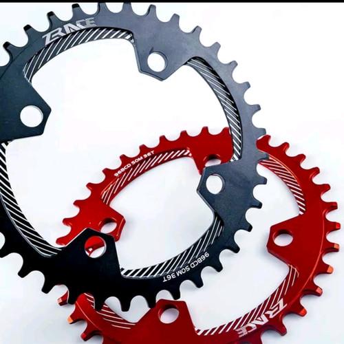 Foto Produk ZRACE Chainring 32 34 36 38T BCD 96 Narrow Wide Symetris mtb roadbike dari Phylo shoop