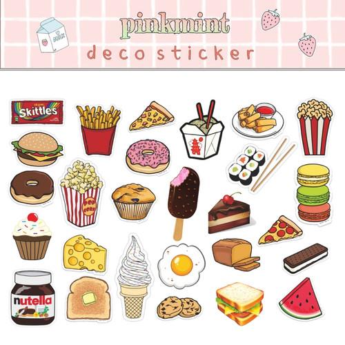 Jual Sticker Aesthetic Makanan Lucu Untuk Catatan Bujo Laptop Dll Jakarta Barat Vlins Shop Tokopedia