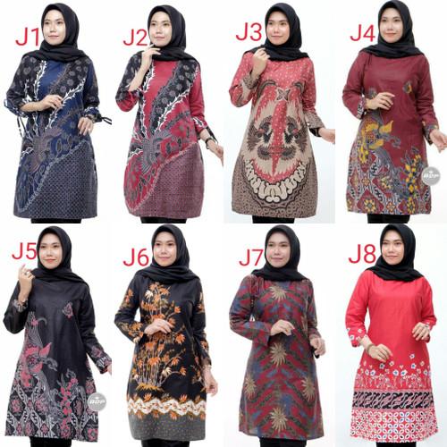 Foto Produk Atasan Wanita Soft Tunik Batik Terbaru   Baju Batik wanita modern dari Batik Awab