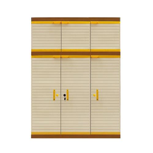 Foto Produk Lemari Plastik Club Mega LC gantungan+susun 3 pintu Coklat dari Mebel Plastik.Mks