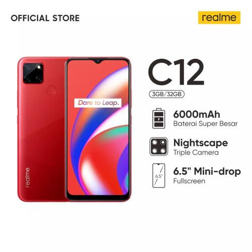 Foto Produk REALME C12 - 3GB 32GB - 3/32 - 6000mAh - Triple Camera - GARANSI RESMI - Coral Red dari Shopyz ID