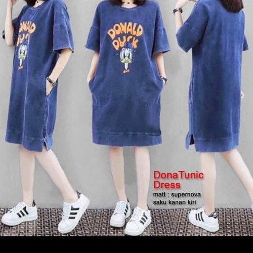 Foto Produk TJ 63202 BAJU DONA TUNIK DRESS - Biru, XL dari TariJon shop