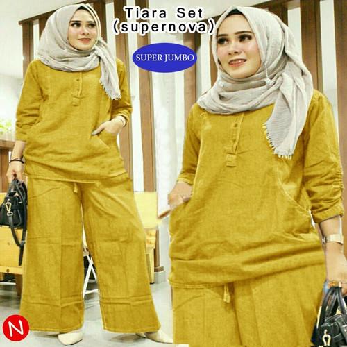 Foto Produk Tj 6882 Baju setelan wanita muslim murah terlaris - Kunyit, XL dari TariJon shop