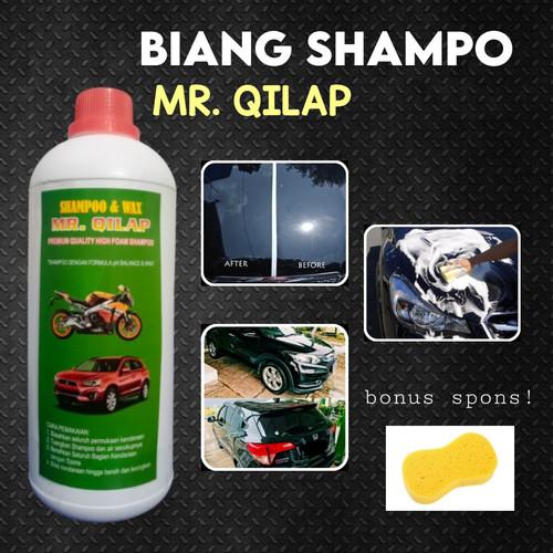 Foto Produk Biang Shampo Sabun Cuci Mobil Motor MR. Qilap 1 Liter Plus Busa Spon dari MR. QILAP