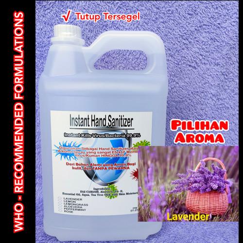 Foto Produk Hand Sanitizer 5 Liter Cair, Tanpa Pewarna - Lavender dari Kimia Store..!