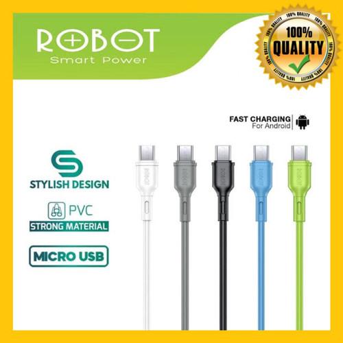 Foto Produk Kabel Data Fast Charging Robot Micro USB Cable 100% Original ROBOT - Satuan dari mulmul shop