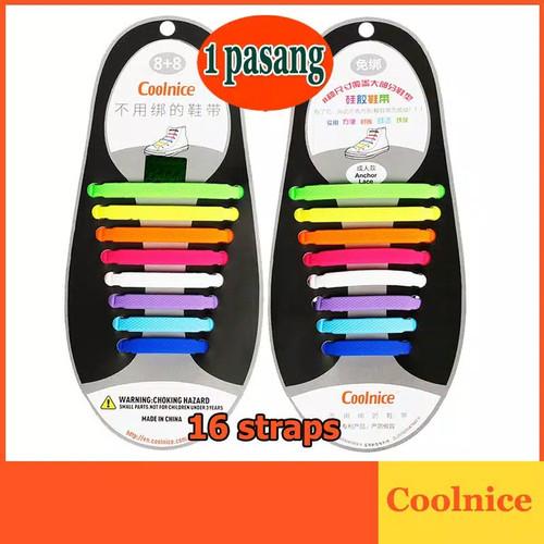 Foto Produk [DD013] Original Coolnice Tali Sepatu Karet Silikon - Hitam dari Dynamic Duo