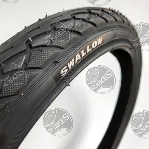 Foto Produk Ban Luar Sepeda 18 x 1.75 (47-355) HITAM POLOS. SWALLOW DELI TIRE dari SR Bikes