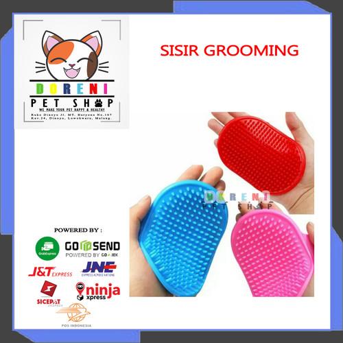 Foto Produk Sisir Pijat untuk Grooming Kucing Anjing dari Doreni Petshop