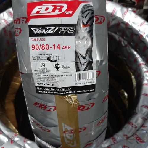 Foto Produk BAN LUAR FDR GENZI PRO 90/80-14 TUBELESS dari sumber motor cinangka