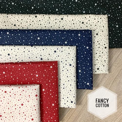 Foto Produk Kain Katun Jepang motif fancy tiny star by tokai senko - kode E dari maxshop online