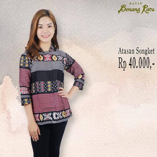 Foto Produk Atasan Batik / batik songket / Atasan wanita / batik murah dari Batik Benang Ratu