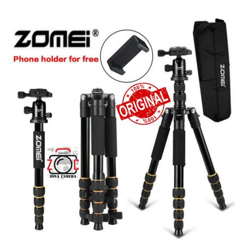 Foto Produk Zomei Q666 Tripod Ball head Professional Monopod Portable Traveling m dari zona camera