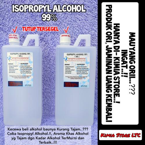 Foto Produk Alkohol Isopropyl 99% 1 Liter, Alkohol Medis terMurni dan Terbaik dari Kimia Store..!