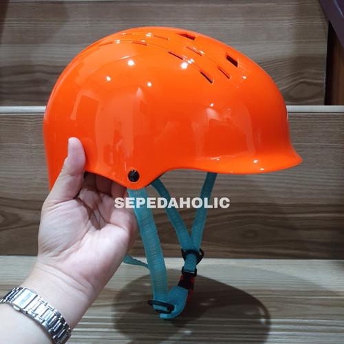 Foto Produk Helm Batok SYTE F162 Untuk Dewasa Sepeda Lipat MTB Glossy High Quality - Orange dari Sepeda Holic