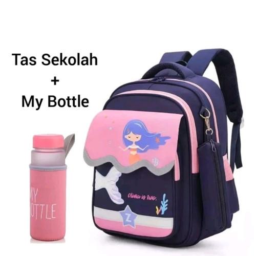 Foto Produk Tas Anak Perempuan Tas Wanita Tas Sekolah PAUD TK SD Tas Puteri Duyung - Kombinasi Pink dari KebunKoe