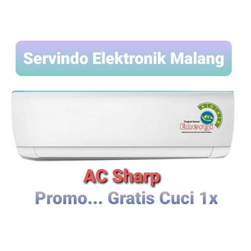 Foto Produk ac sharp 1/2 pk + accesories + psg standart. area malang kota dari Servindo Elektronik