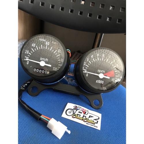 Foto Produk Speedometer spedo meter cb 125 speedo set rpm cb 100 cb 125 import bag dari AHZ Classic Custom